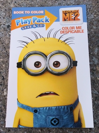 SMALL COLORING BOOK WITH STICKERS MINIONS DESPICABLE ME 2 USE YOUR OWN CRAYONS