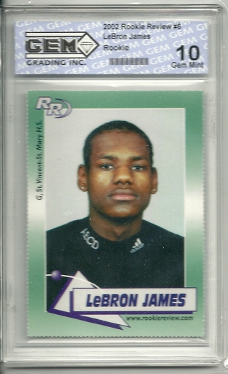 Free Graded Gem Mint 10 Lebron James Rookie Review Rookie