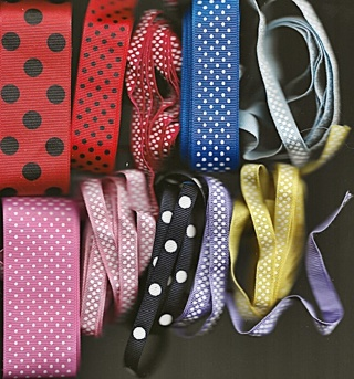 Grosgrain Ribbon with Dots