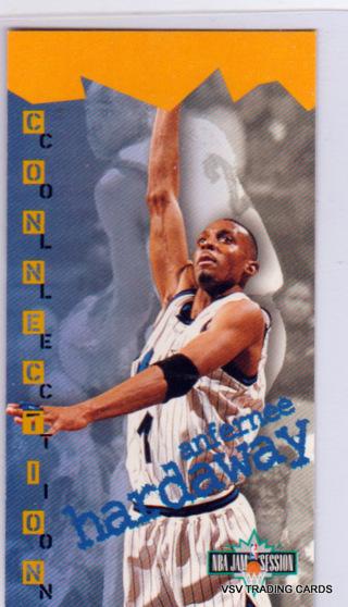 """ANFERNEE """"PENNY"""" HARDAWAY 1995 Fleer Tall Card #76, Orlando Magic, 2.5""""x5"""""""
