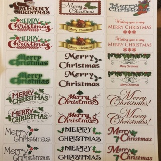 Merry Christmas labels