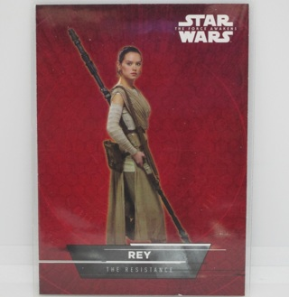 Star Wars Force Awakens S1 Character Sticker Chase Card #1 Rey