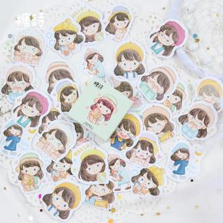 45 Pcs/lot Japanese Journal Adhesive Paper Decor Scrapbook Girl Cute Label Stickers Flakes Station