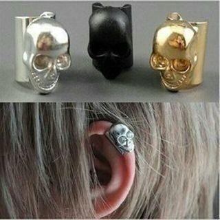 European Retro Brincos Punk Skull Bones Earrings Hot Selling Ear Cuff