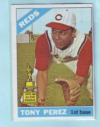 1966 Topps Tony Perez Baseball Card # 72 Reds