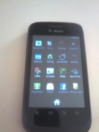 T-Mobile ZTE Concord Touch Screen