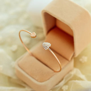 NEW 2018 - Women Fashion Jewelry Gift Gold Silver Rhinestone Crystal Bangle Cuff Bracelet