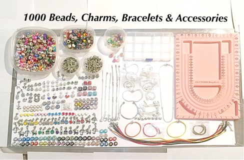 1000pc European Euro Beads, Charms, Bracelets, Necklaces & Accessories WoW!!