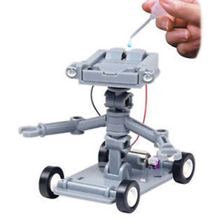 Kid Gift Science Educational Mini Toys DIY Assembly Salt Water Powered Robot Robot Kit