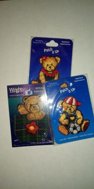 3 - Sew On Bear Patches