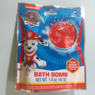 PAW PATROL Nickelodeon Kids Bath Bomb Paw-Some Punch Scented NEW - Free Shipping