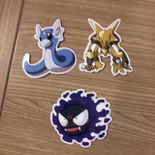 "Pokémon stickers 3"" skateboard or luggage lot of 3"
