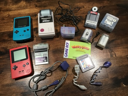 Large Qty of Vintage Game Boys and Accessories
