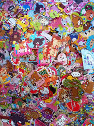 10 kawaii sticker flakes