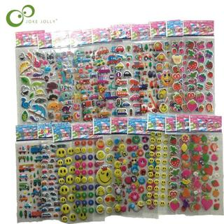 10 Sheets 3D Puffy Bubble Stickers Cartoon  Princess cat Waterpoof DIY baby Toys for Children Kids