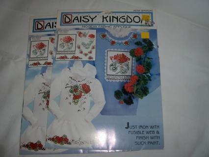 Daisy Kingdom No-Sew Fabric Applique ~ Geranium