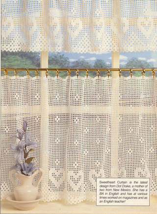 Free Crochet Patternsweetheart Cafe Curtain And Valance