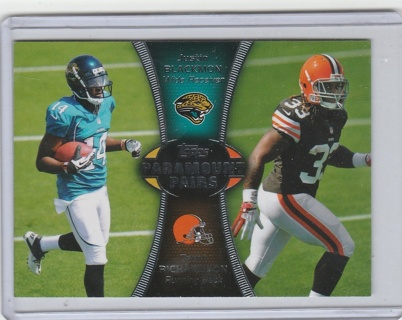 Topps 2012 Paramount Pairs PA-BR Justin Blackmon and Trent Richardson Football Card NM/Mint