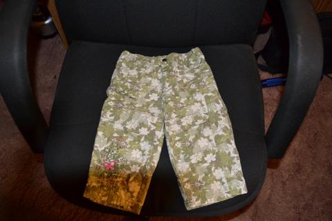 18 month flower camo cargo pants
