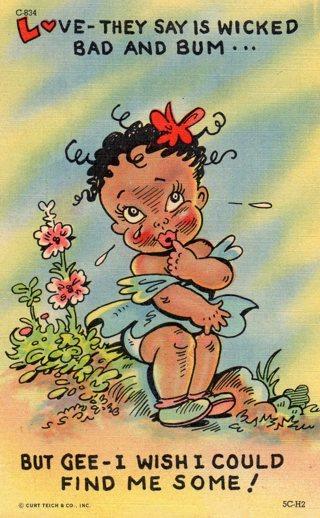 Vintage Used Postcard: 1957 linen Humor Find Me Some Love