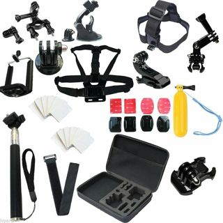 New Head Chest Mount Case Bundle For GoPro Cameras Accessories Kit