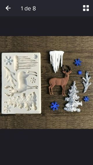 Silicone mould christmas
