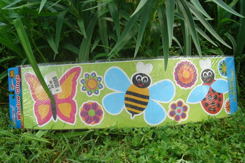 Large Window or Freg Clings Butterfly Bumble Bee Lady Bug Flowers