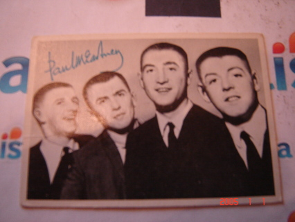 BEATLES TRADING CARD, #102, 2nd Series(green)