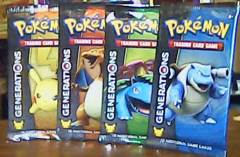 Pokemon TCG: 4x Generations Booster Packs New Sealed 2016