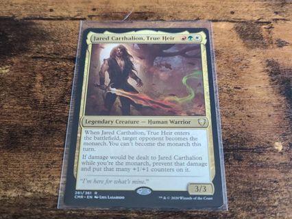 Magic the gathering mtg Jared Carthalion True Heir rare card Commander Legends