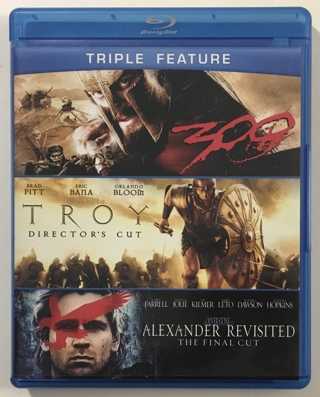 300, TROY, Alexander Revisited Blu-ray Triple Feature 3-Movie Collection - Mint Discs
