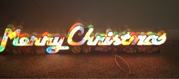 Vintage Merry Christmas Light Up 23