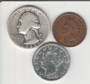 Old Trio Coin Lot