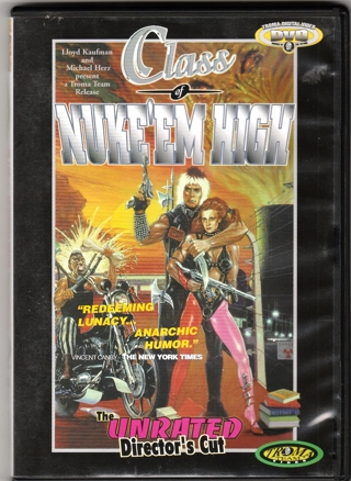 CLASS of NUKE' EM HIGH ~ Unrated Director's Cut, 1997 Troma Video, Cult Horror Comedy