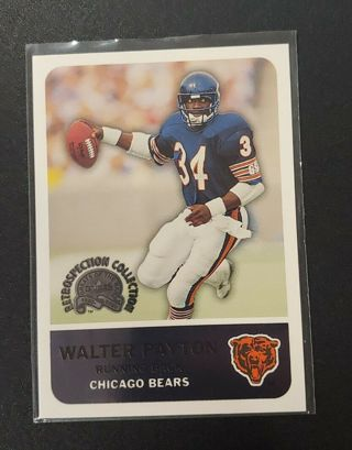 2000 fleer walter payton-bears-hof-retrospection collection#9-mt
