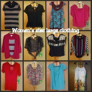 Women's size large clothing lot