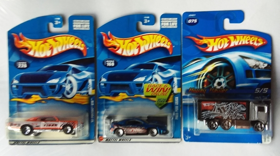 Lot of 3 Hot Wheels '67 Pontiac GTO - Pikes Peak Celica - Hiway Hauler