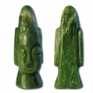 Head Green Jade Figurine