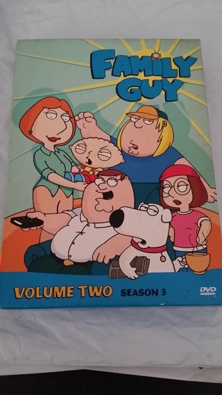 FAMILY GUY Volume 2, Season 3 / 3 DVD Set in Cases W/Artwork / Free Shipping / Low GIN