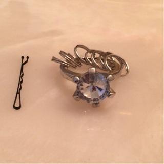 Wedding ring key ring new!