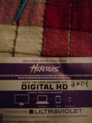 Hercules(2014) VUDU Code