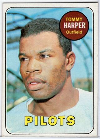 Tommy Harper - 1969 Topps #42 - vintage card - VG++ condition