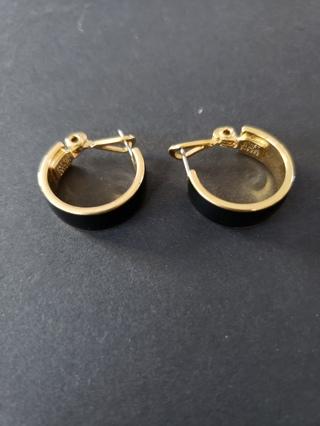 Vintage MONET Black/Gold Earrings