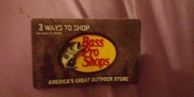 pro bass gift card $9 nalance