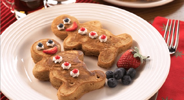 Festive Gingerbread Friends Pancakes recipe