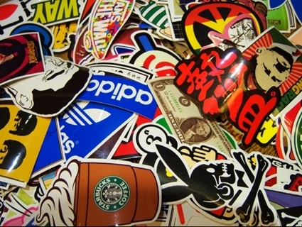 Brand NEW Stickers *Luck of The Draw* NEW Random Pop Culture Stickers Art Music Movies Fashion