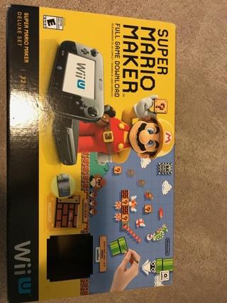 Super Mario Maker Console Deluxe Set - Nintendo Wii U- Nintendo Wii console-used-great condition