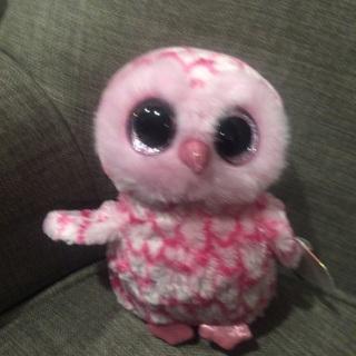 Ty Boo Pinky owl NEW