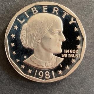 USA 1981 mint Dollar coin