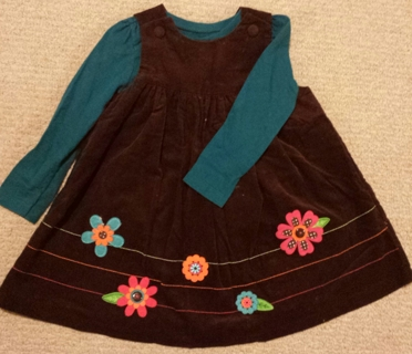 Absolutely Adorable Corduroy Girlie Dress! Sz 3T Low GIN!!